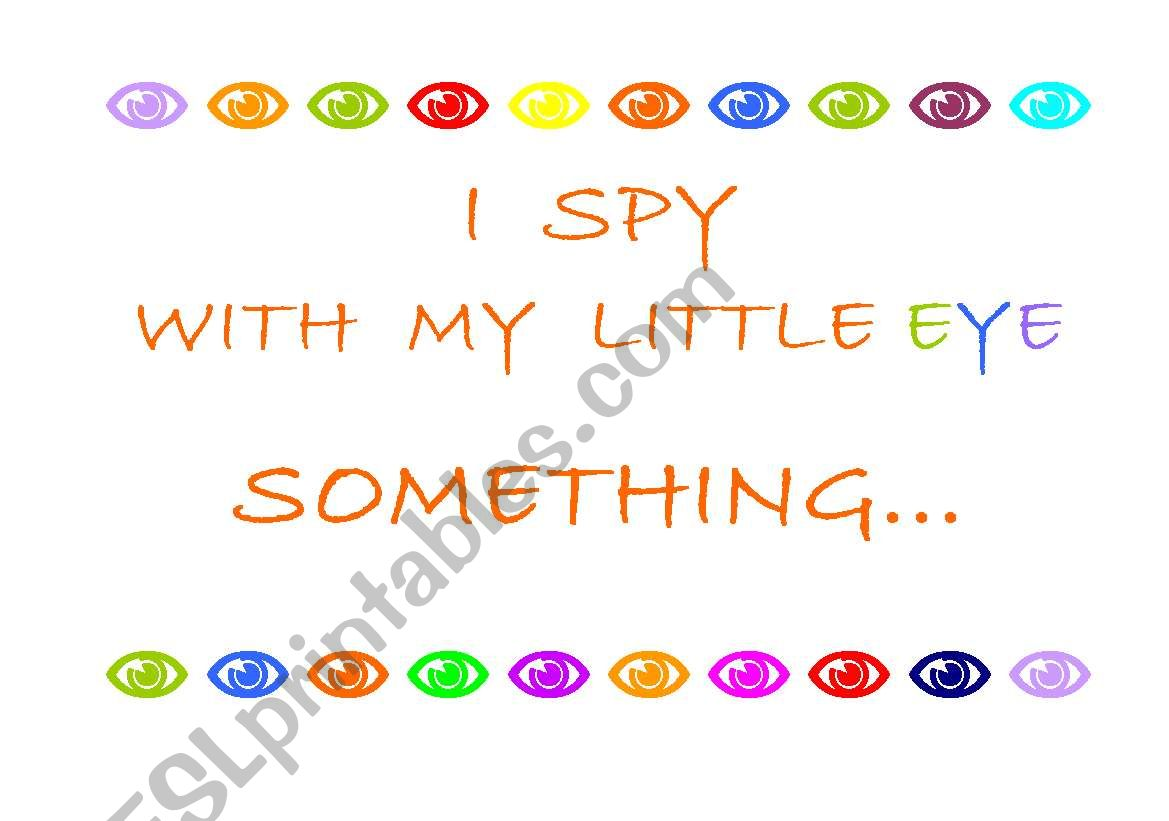 English Worksheets Game I Spy