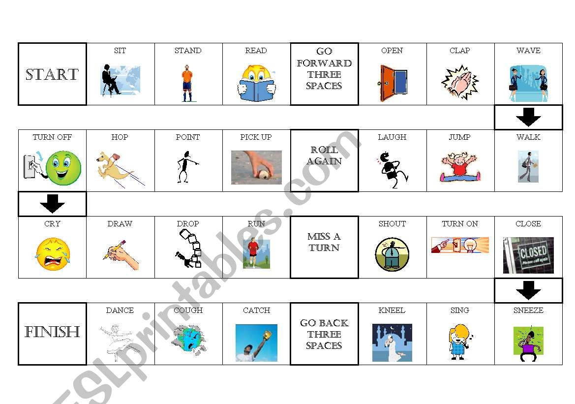 Simple Actions Board Game