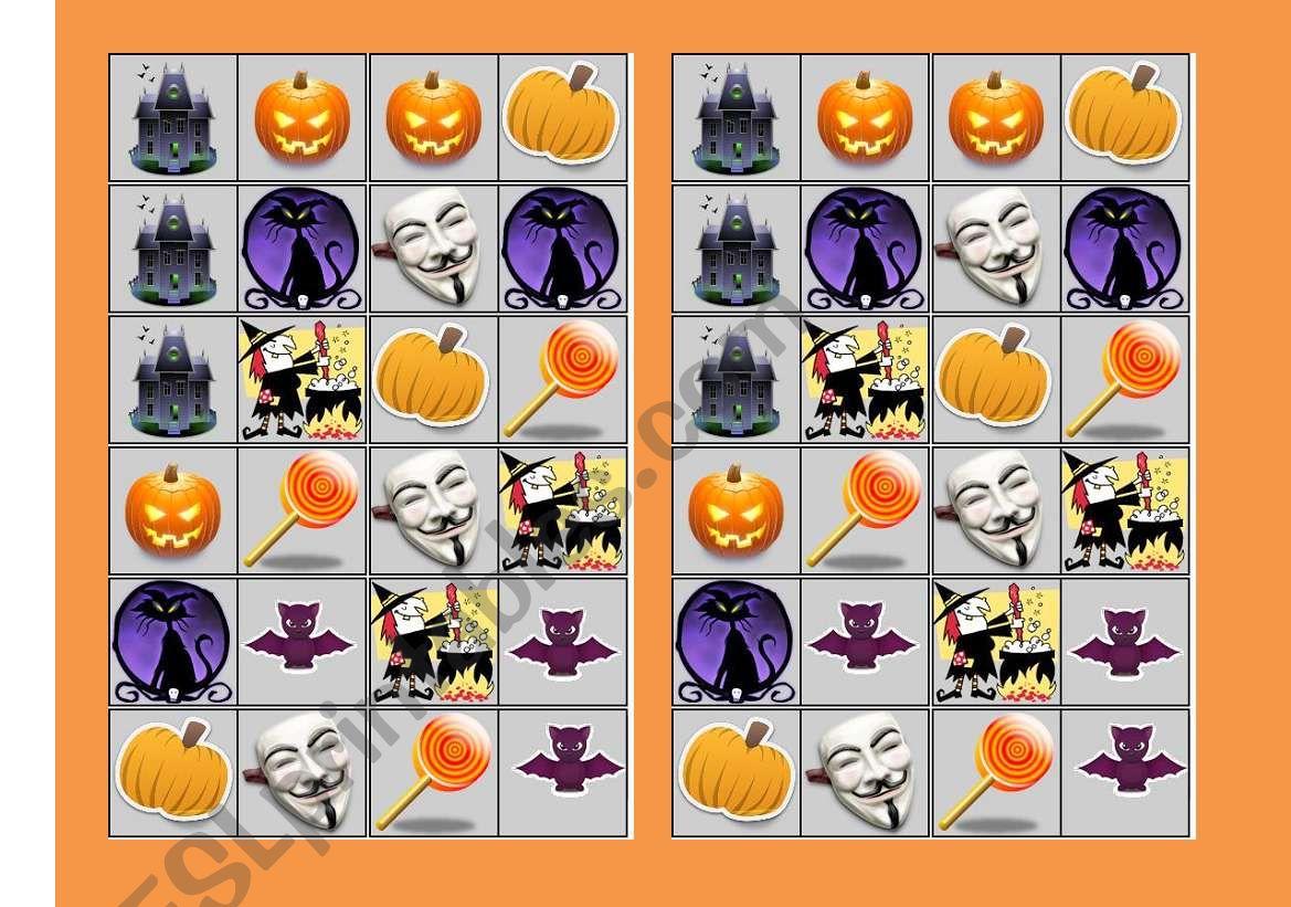 Halloween Dominoes Set 1