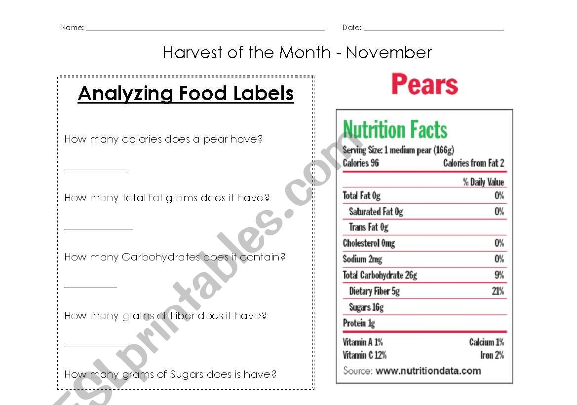 Yzing Nutrition Labels