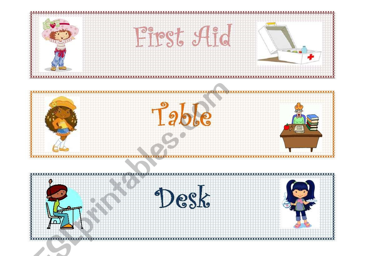 Classroom Labels Classroom Objects 1 2