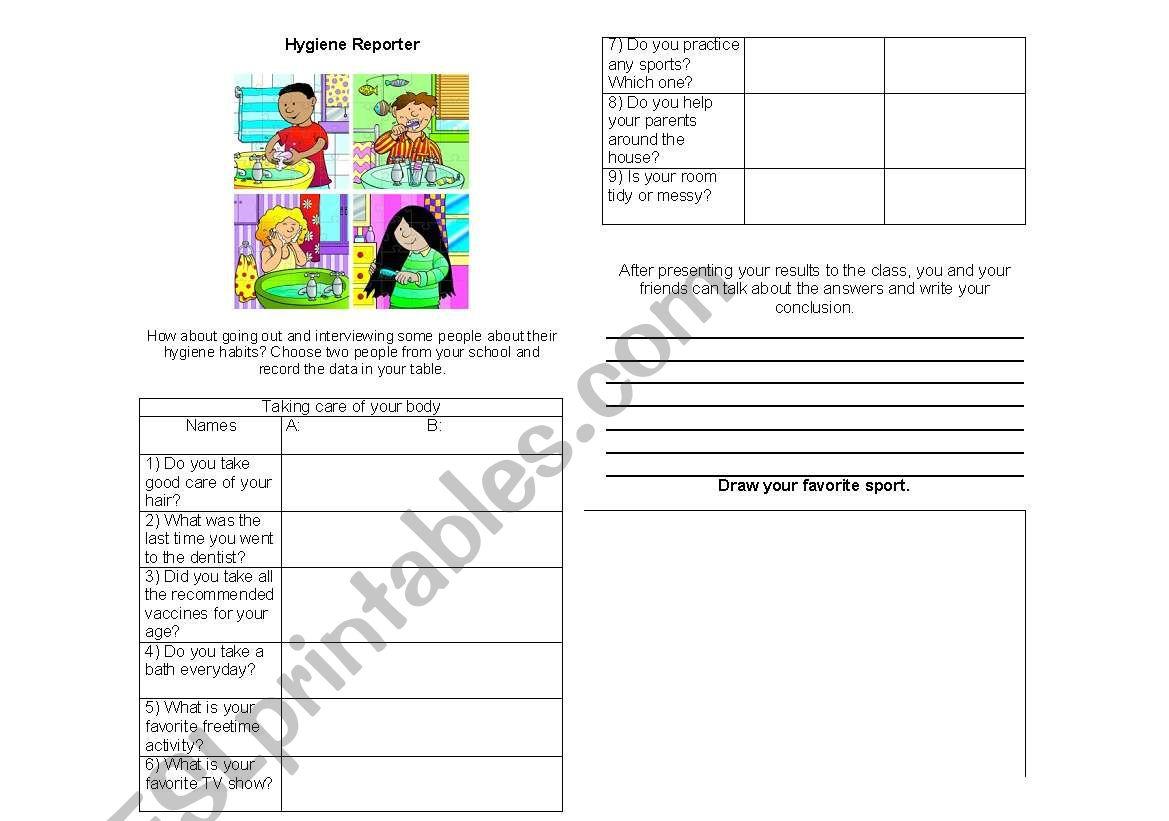 English Worksheets Mental Hygiene