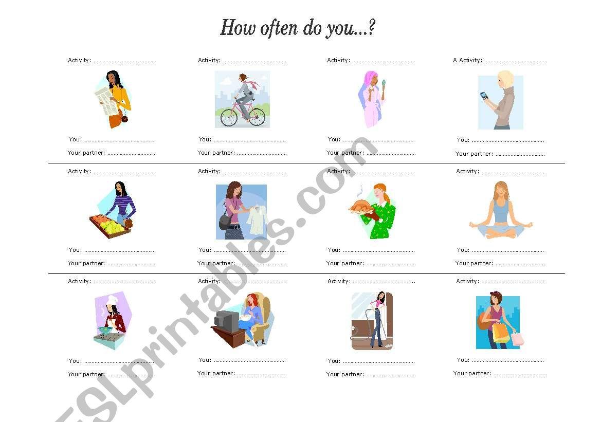English Worksheets Present Simple Pair Work