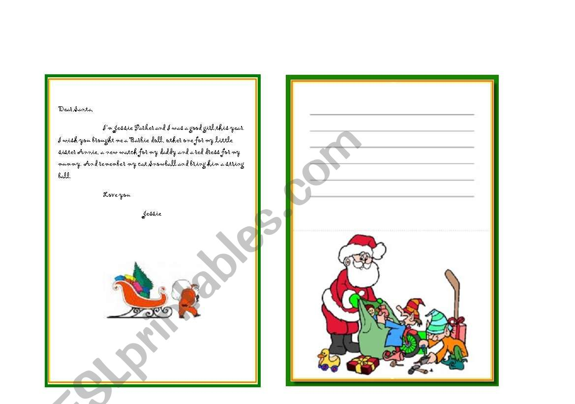 Christmas Ts Letters For Santa Claus