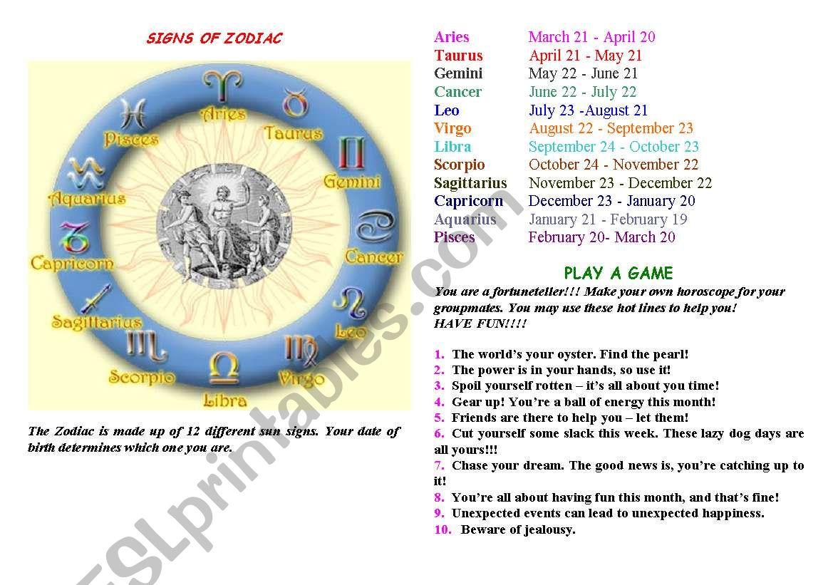 Zodiac Part 2
