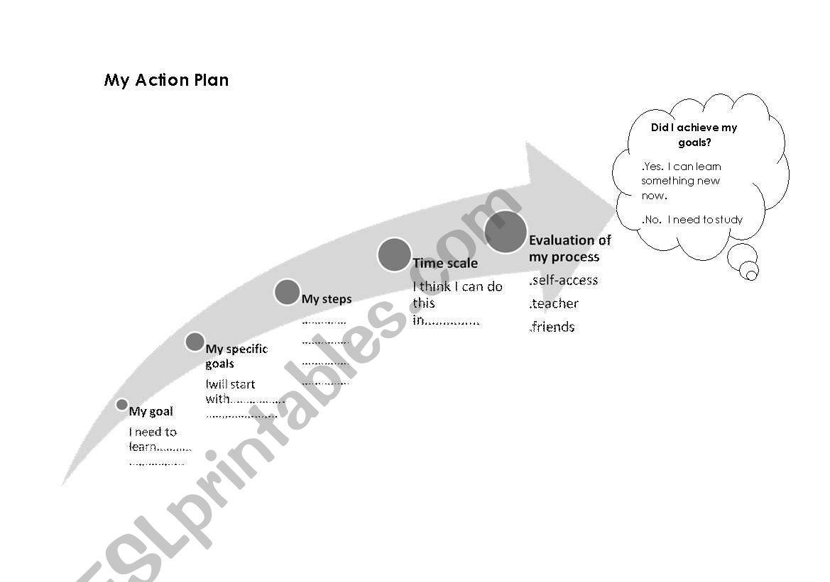 English Worksheets My Action Plan