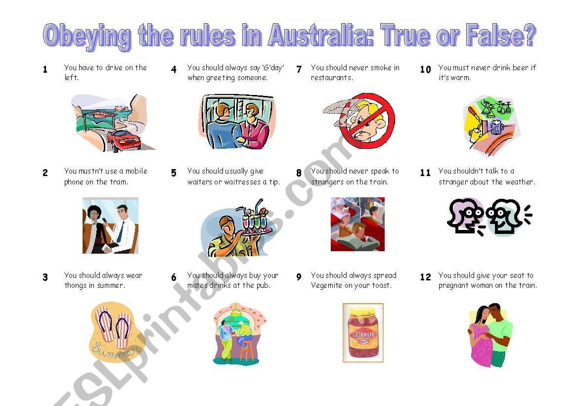 Modal Verbs Obeying The Rules In Australia