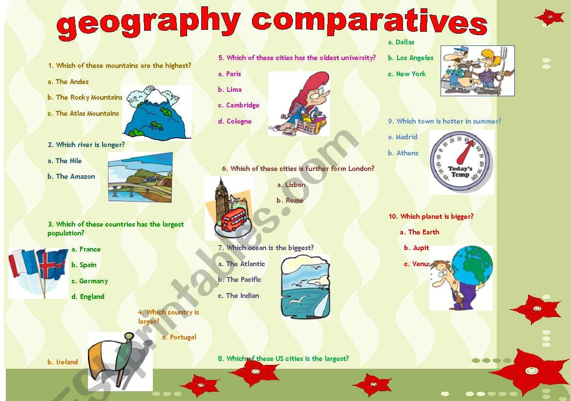 Comparatives Geography