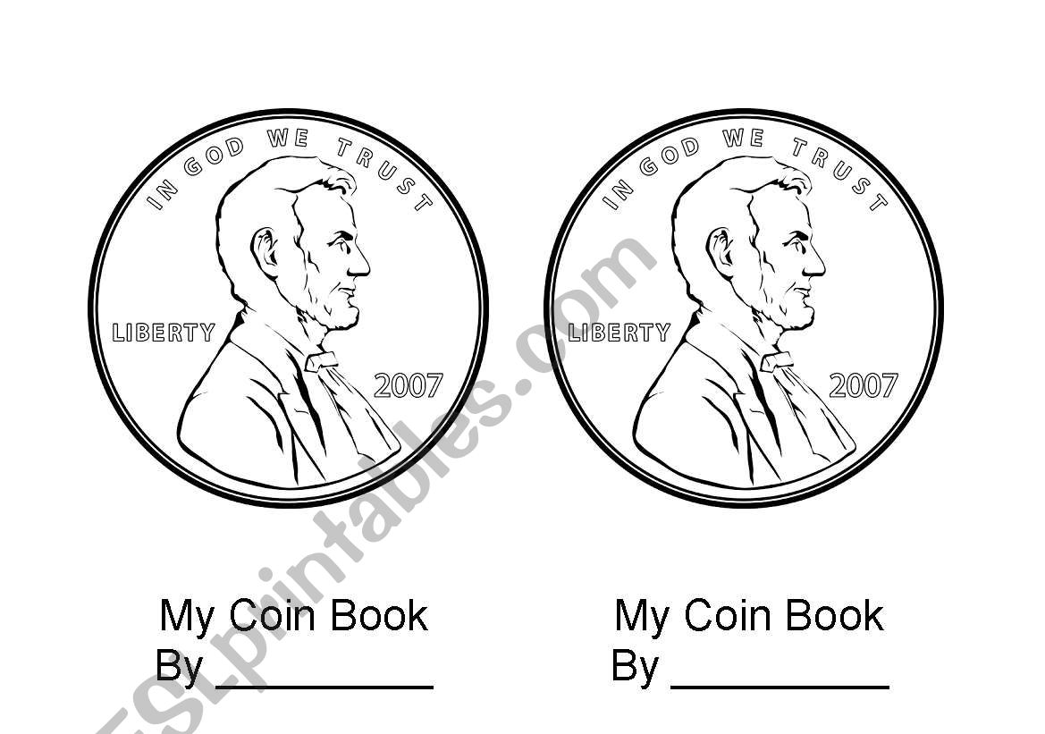 English Worksheets Coin Book Excellent For Learning Money