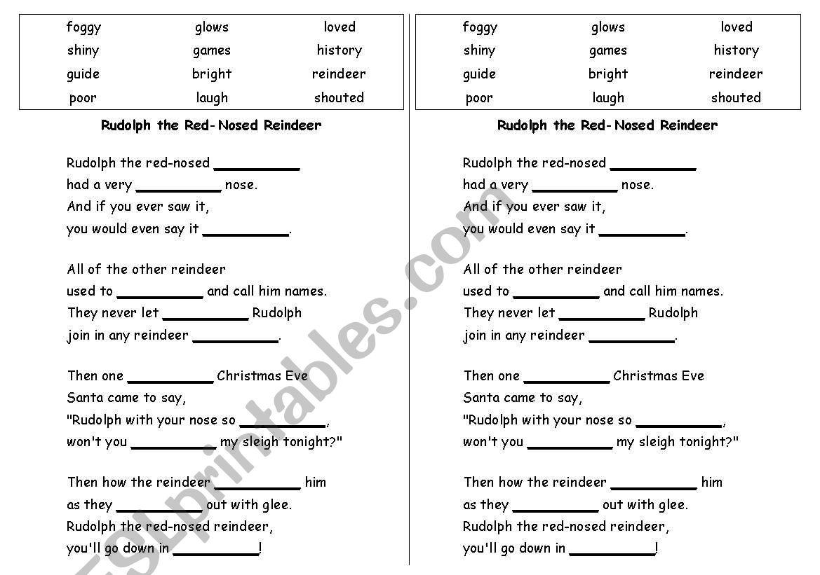 Madlib Worksheet