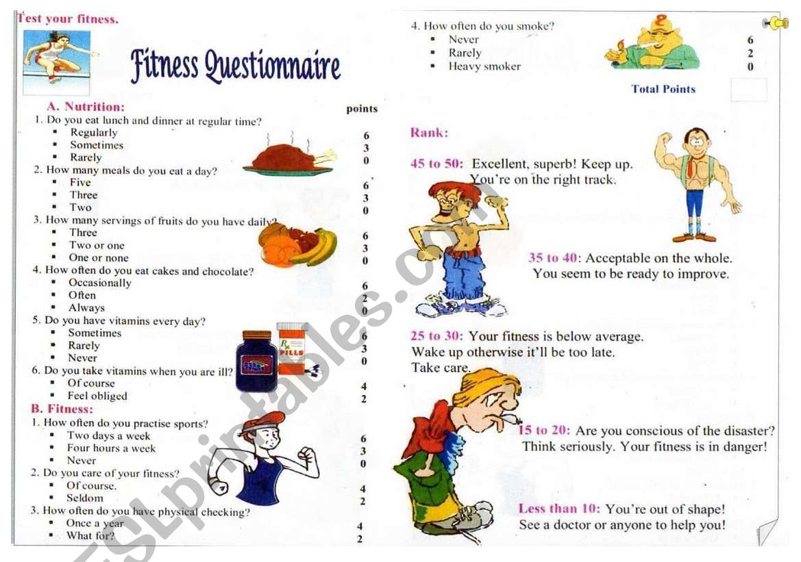 Fitness Questionaire
