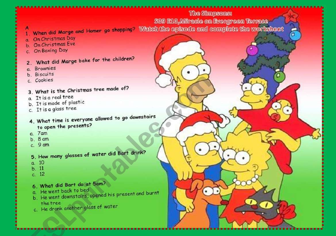 The Simpsons Miracle On Evergreen Terrace S09e10