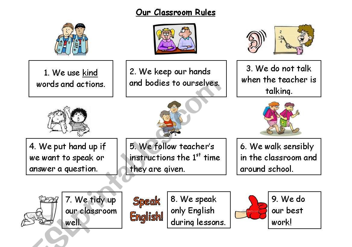 Classroom Rules Part 1 2 Editable