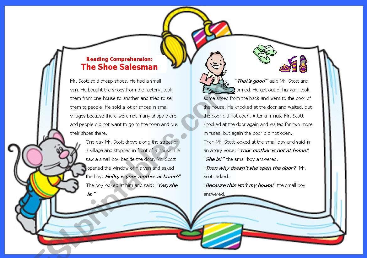 Reading Comprehension 1 The Shoe Salesman