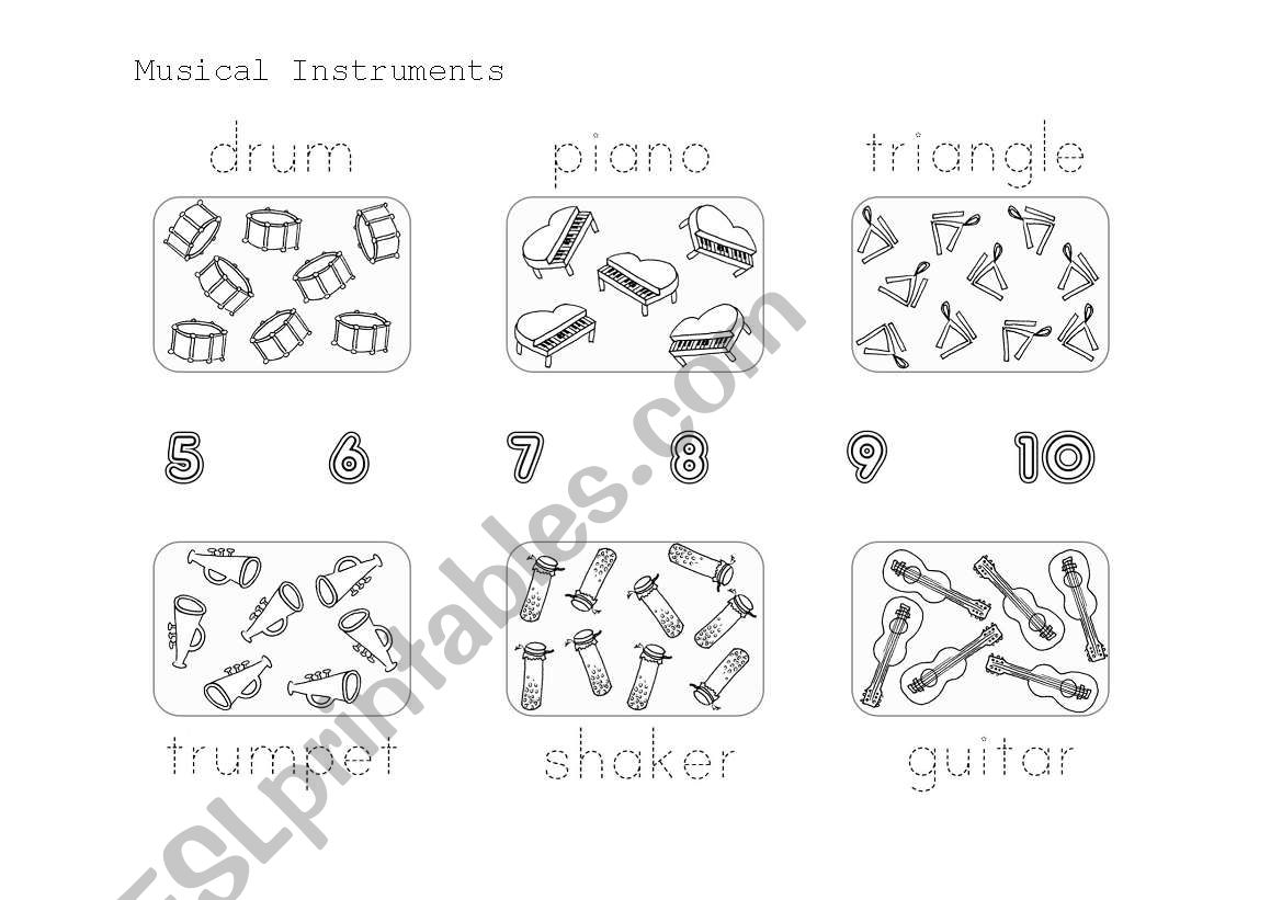 Musical Instruments Count And Trace