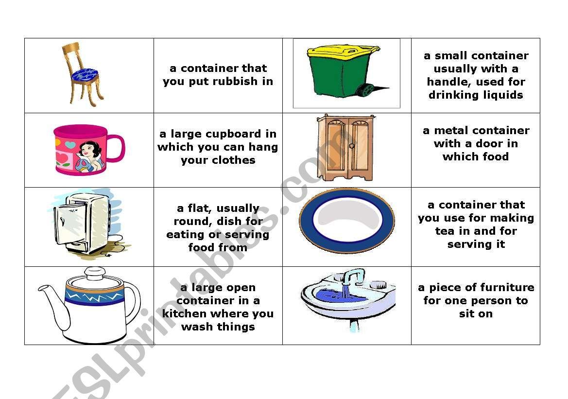 Furniture Grammar Worksheet