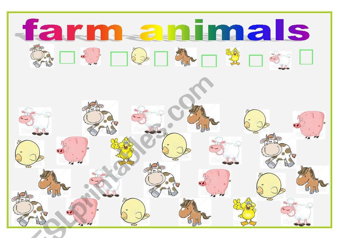 Farm Animals How Many Can You See