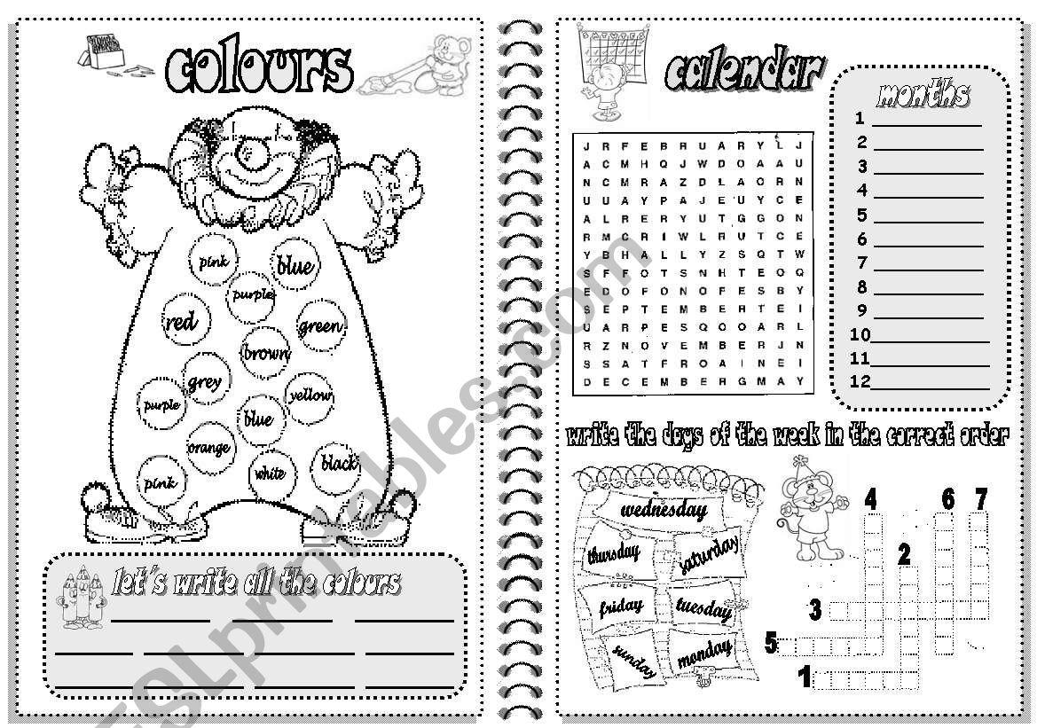 Colours And Calendar