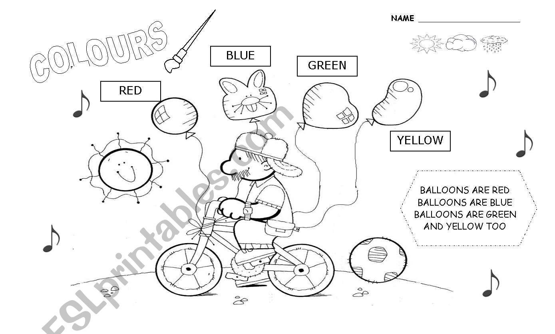 Kinder Pre School Colours Set 1