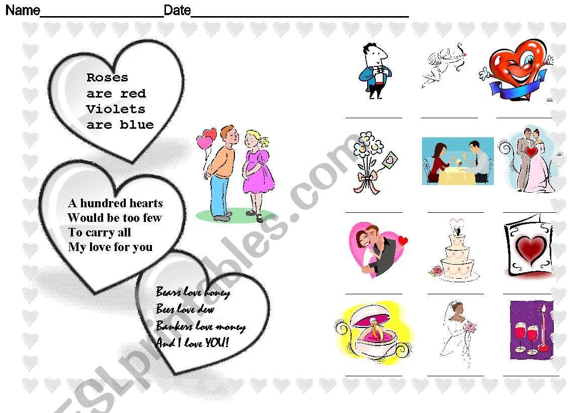 Happy St Valentine Day Worksheet