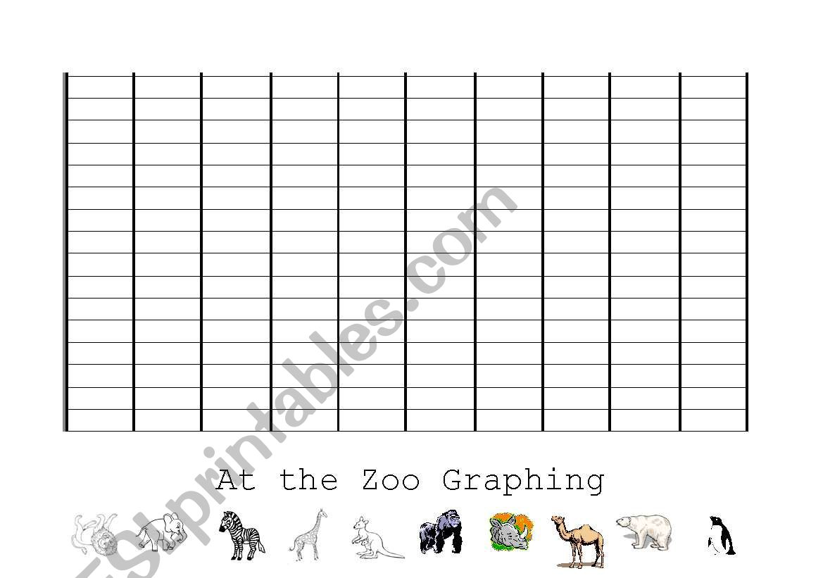 English Worksheets At The Zoo Graphing