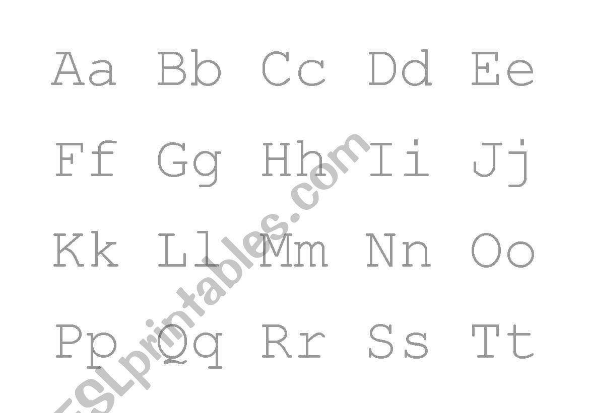 English Worksheets Alphabet Handwriting Practice Worksheet