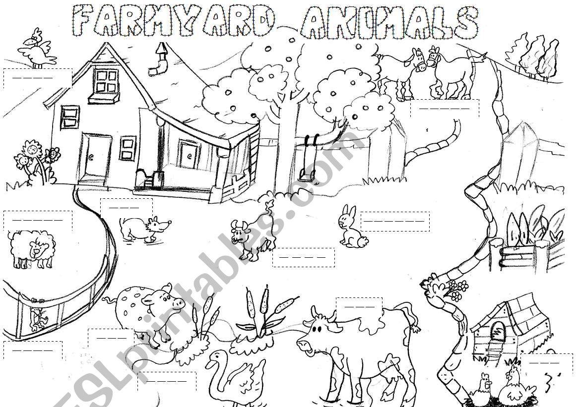 Farmyard Animals Worksheet