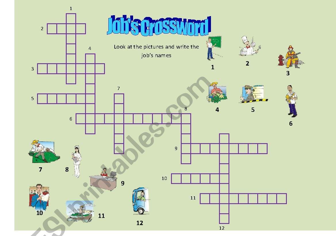 Job S Crossword