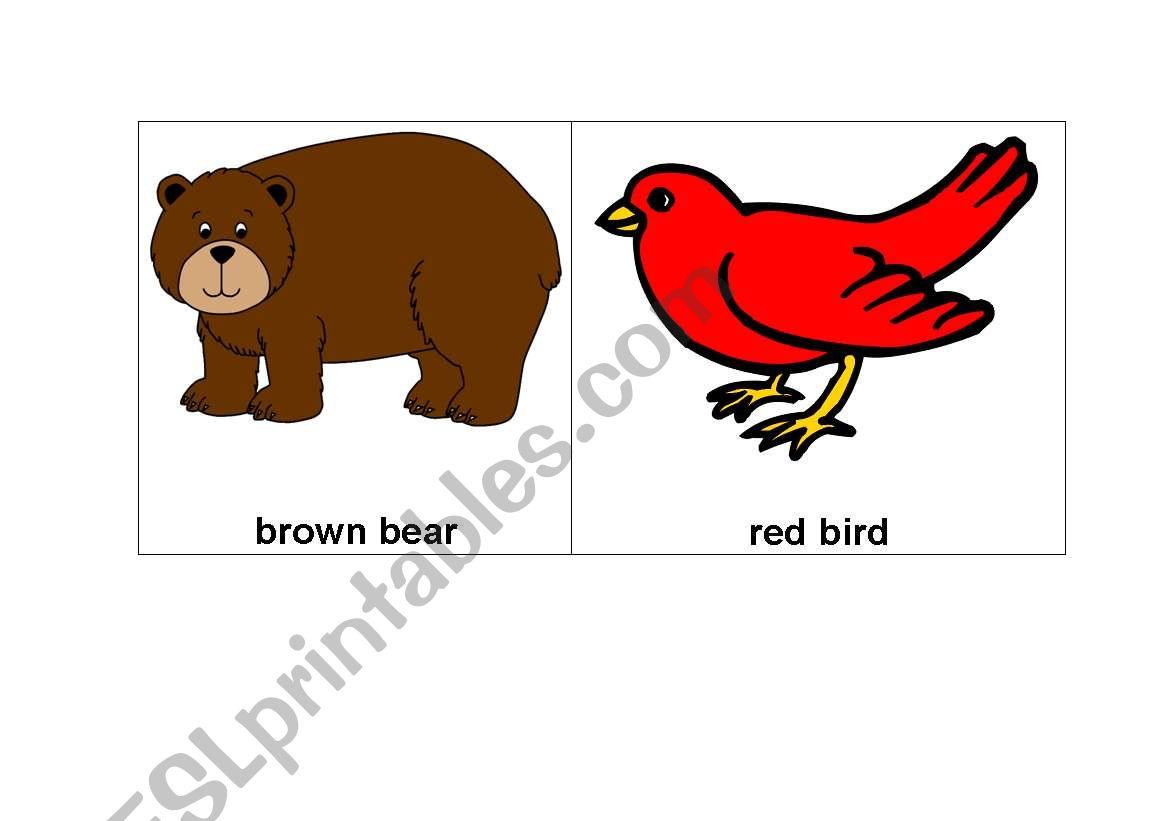 Brown Bear Vocabulary Cards