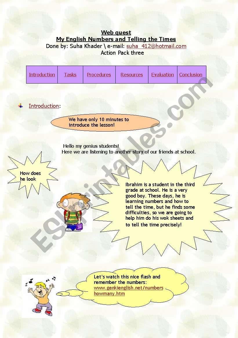 English Worksheets Webquest