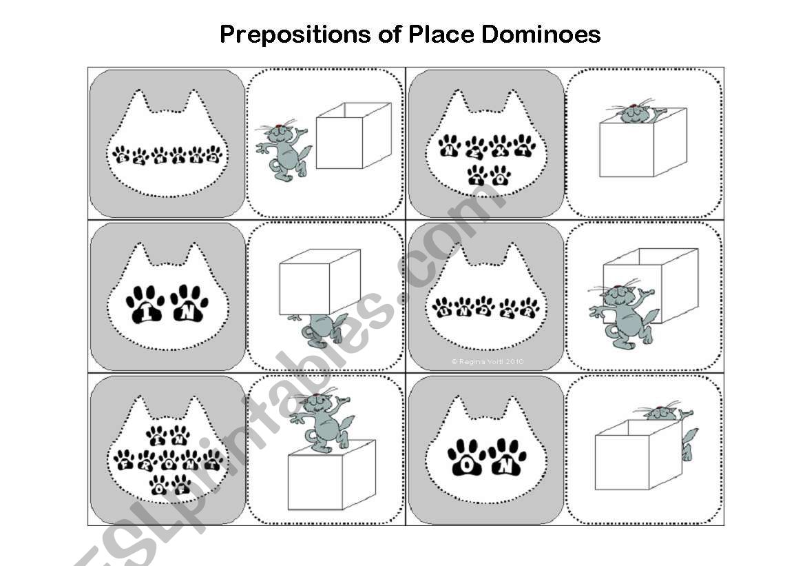 Place Prepositions Worksheet Easy
