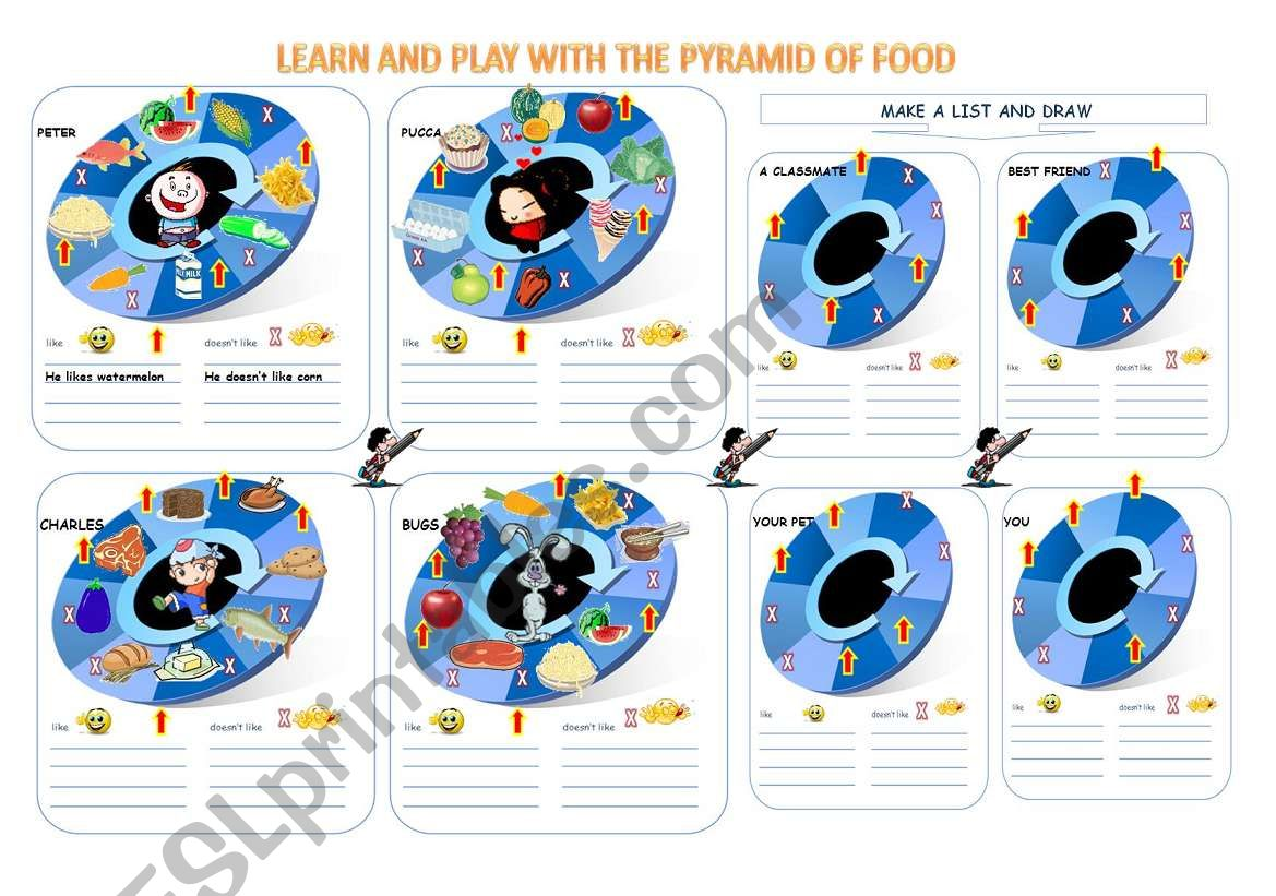 The Pyramid Of Food Part 2 Worksheet And Homework