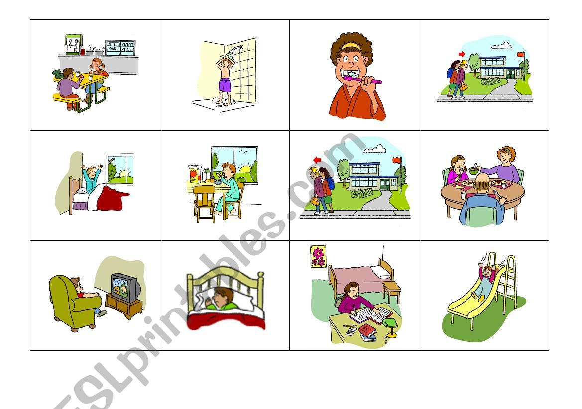 Daily Activities Memory Game