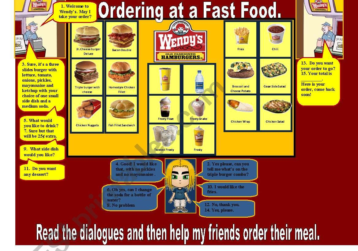 Ordering At A Fast Food