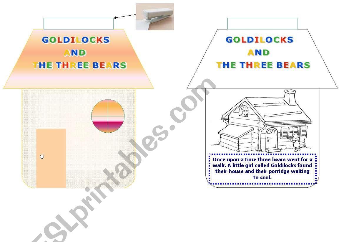 Mini Book Goldilocks And The Three Bears