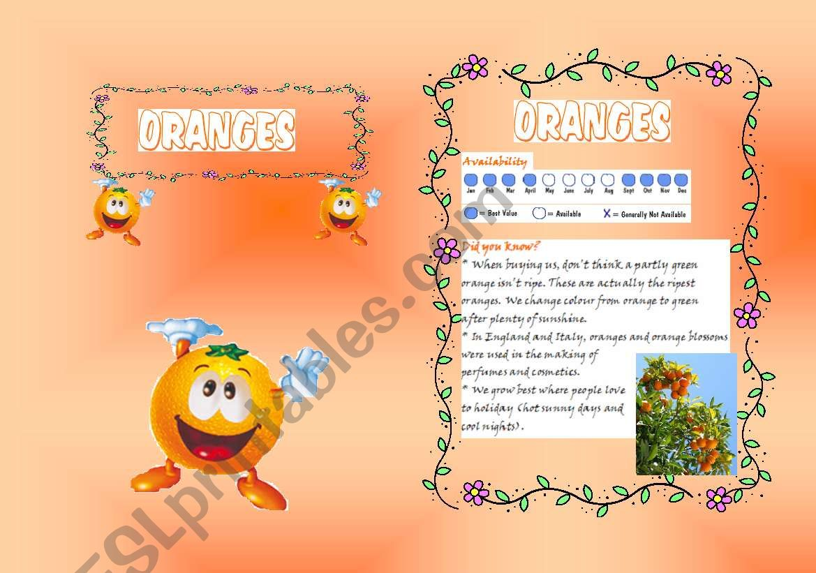 Fruits Booklet 7 B W Included