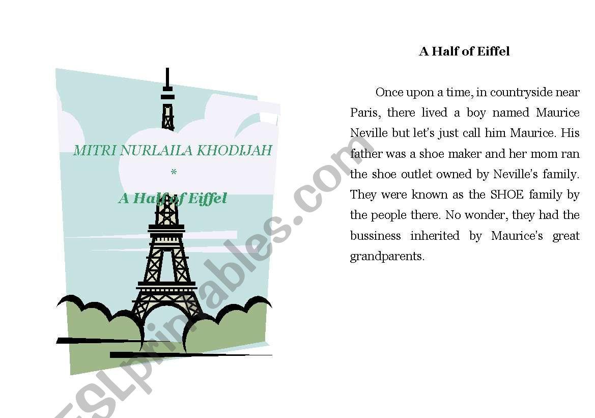 A Half Of Eiffel Short Story