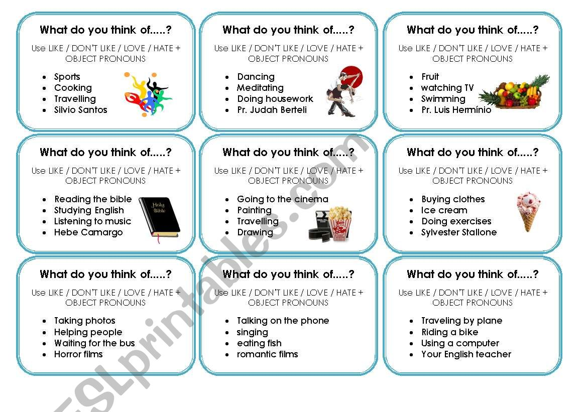 Travelling Speaking Cards