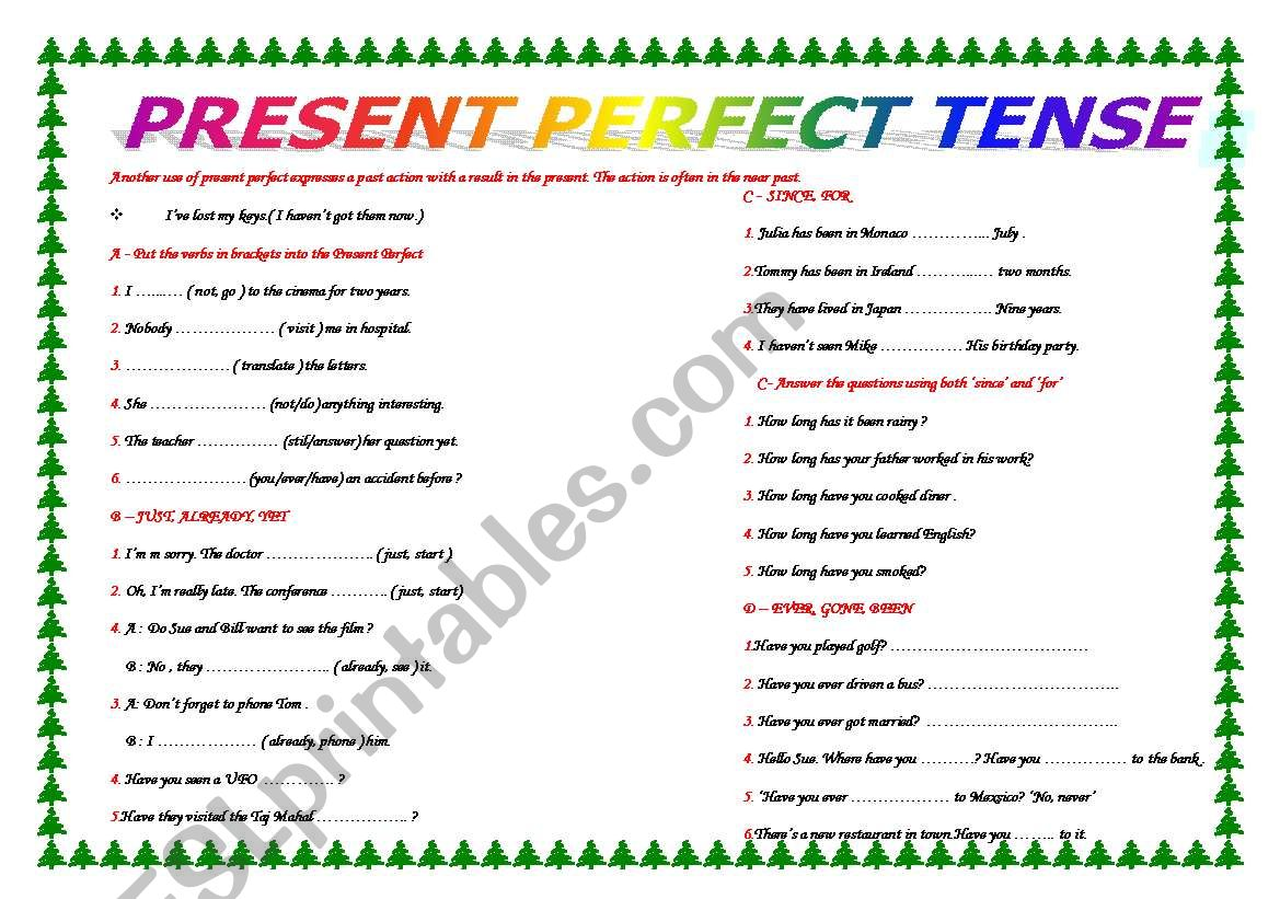 Perfect Tense And Its Time Expressions