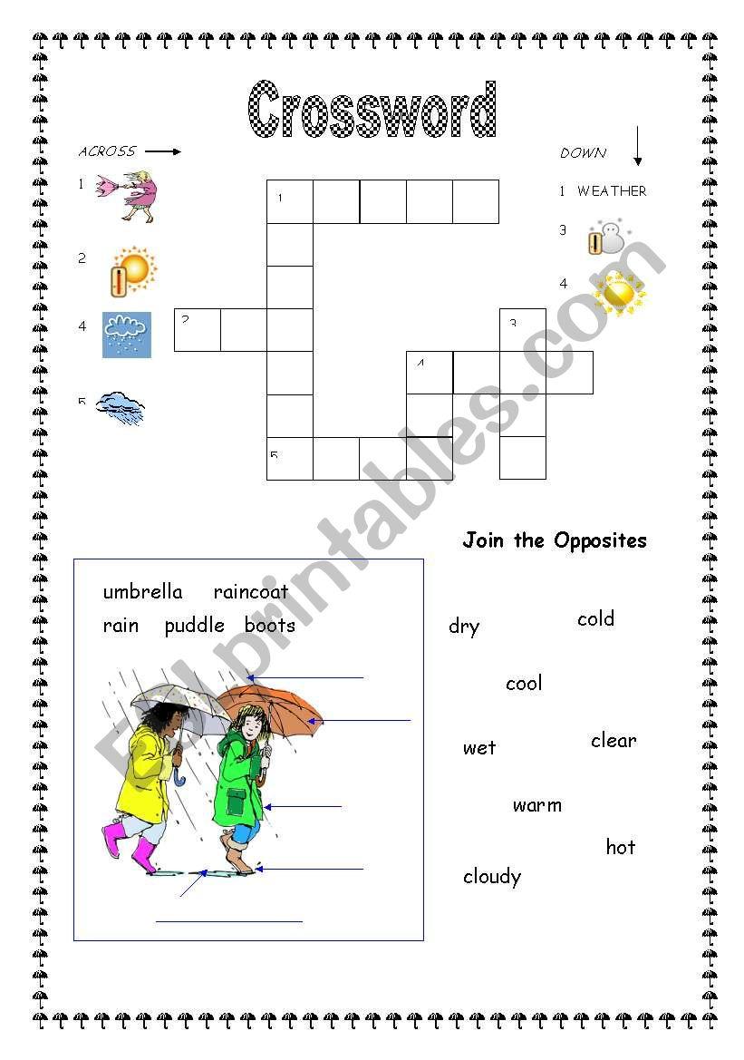 Weather Crossword