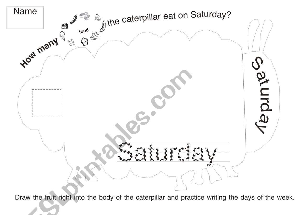 The Very Hungry Caterpillar Worksheet 6