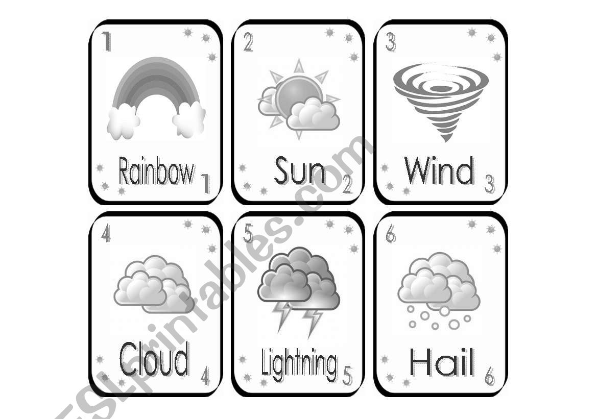Weather Playing Cards
