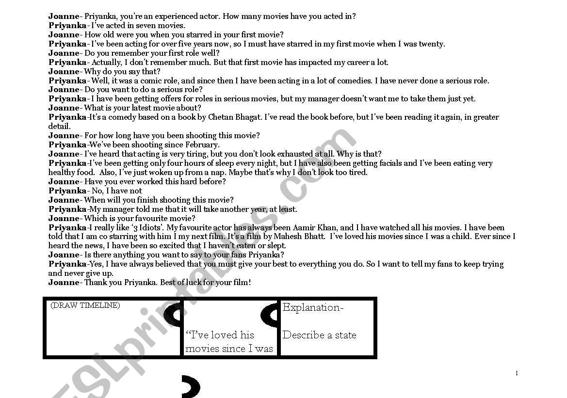 English Worksheets Present Perfect Continuous Tense And