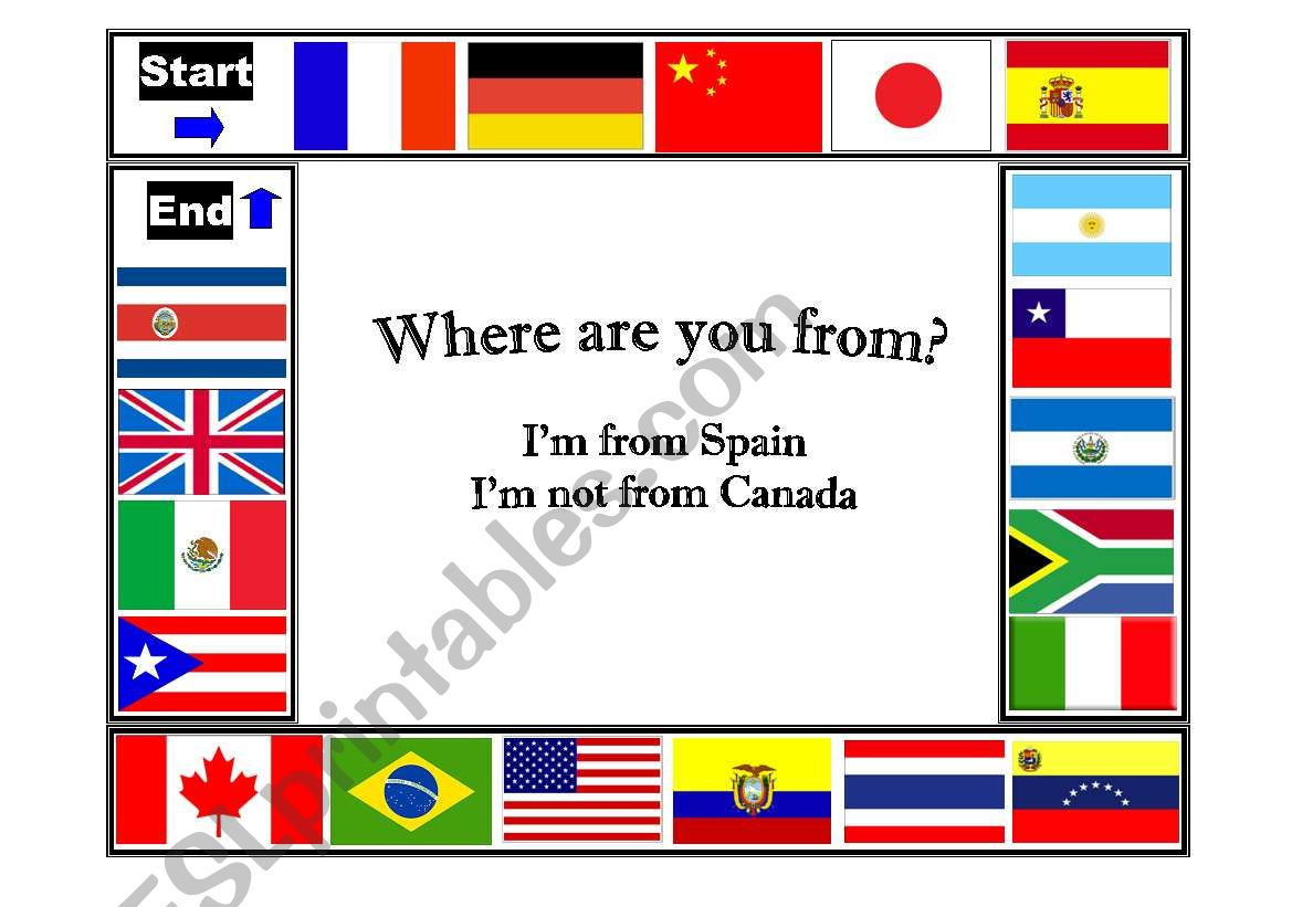 Countries And Nationalities Where Are You From