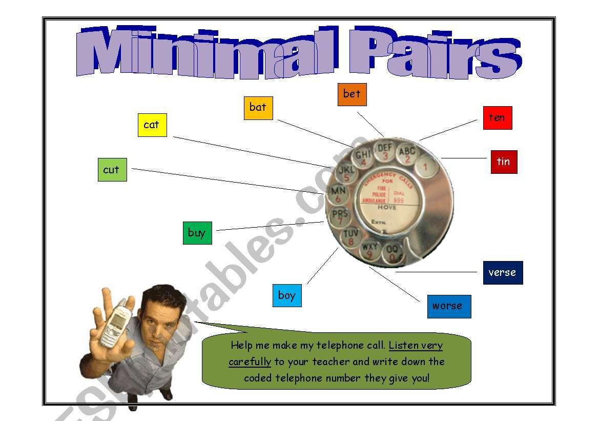 Telephone Minimal Pairs