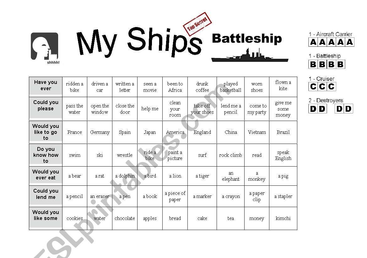 Battleship Asking Questions