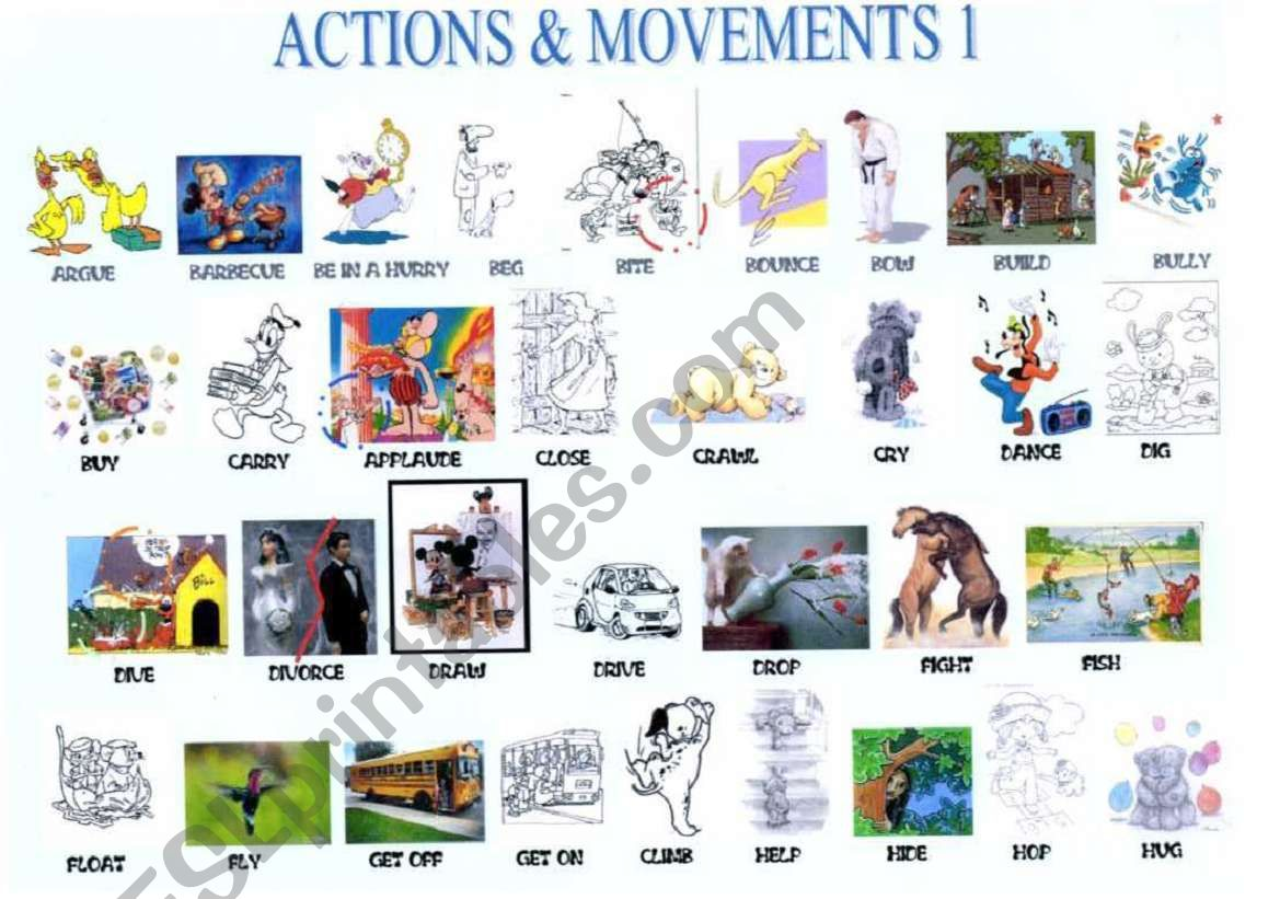 Verbs Of Action And Movement
