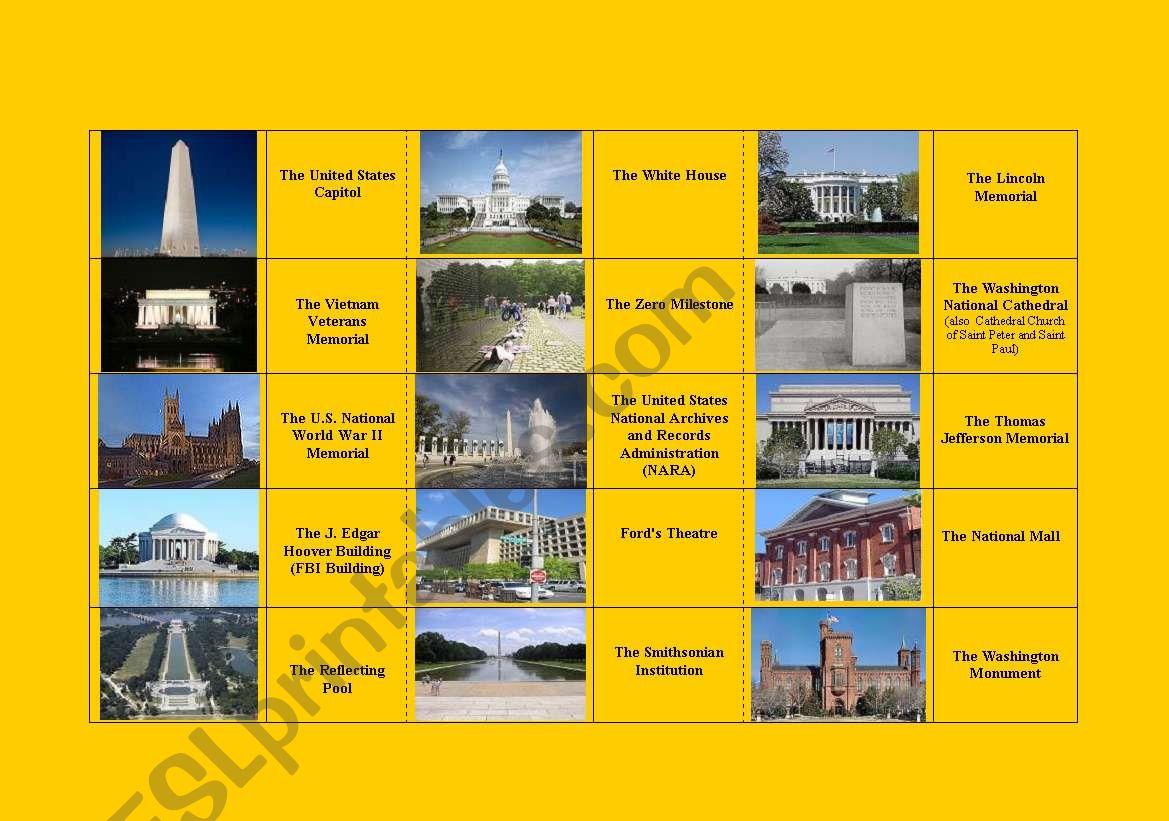 Washington Dc Domino Name Picture Fully Editable