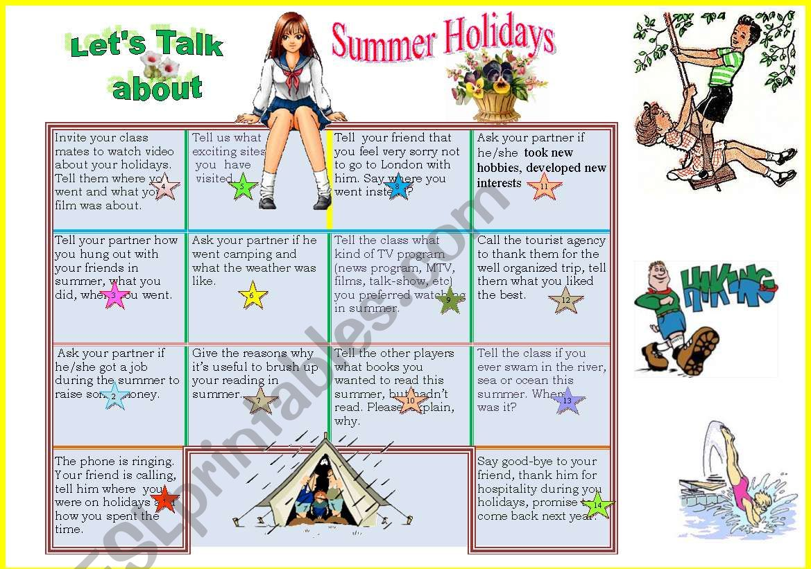 Let S Talk About Summer Holidays