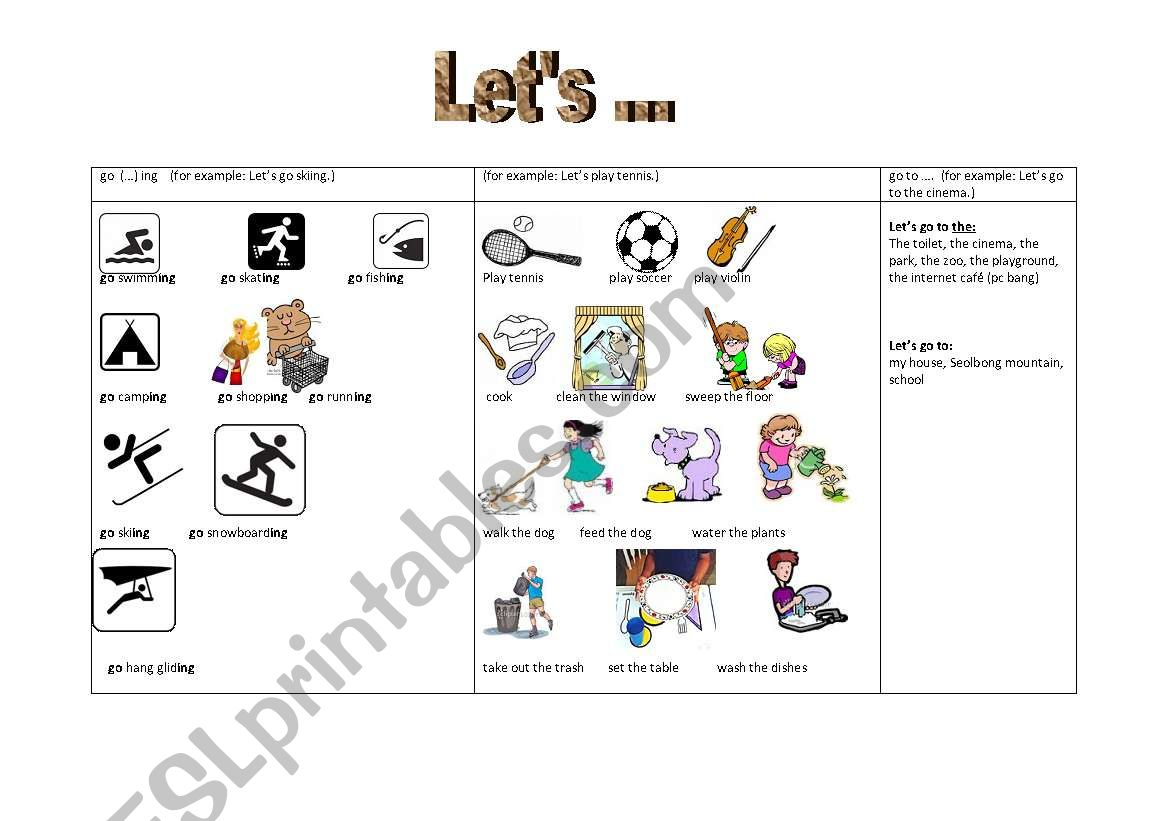 Handout Suggestions Gerunds And Infinitve Let S